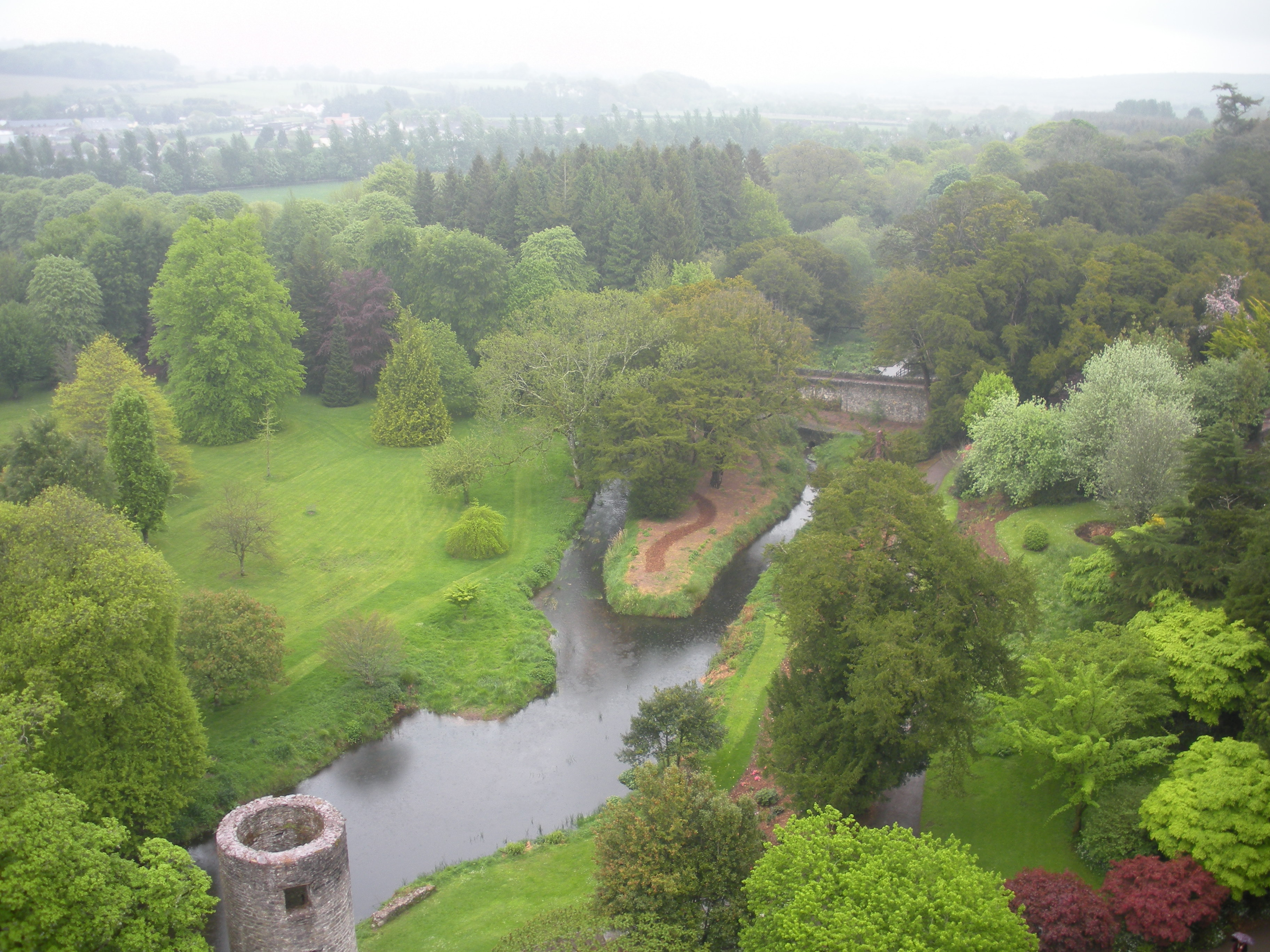 The view from the Blarney Stone